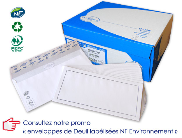 Promotion Enveloppes Deuil NF Environnement